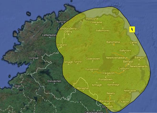 Northern Ireland Weather - Żółte ostrzeżenie pogodowe dla Irlandii Północnej