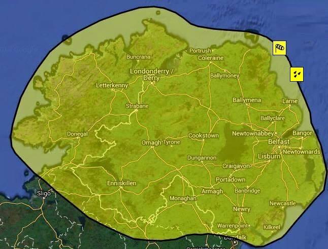 Northern Ireland Weather – Żółte ostrzeżenie pogodowe dla Irlandii Północnej