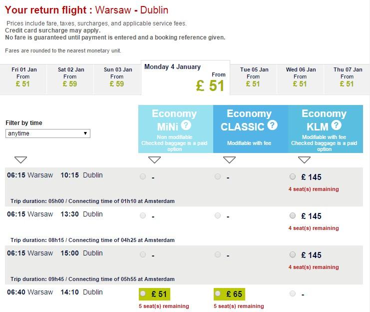 Air France - Warszawa - Dublin