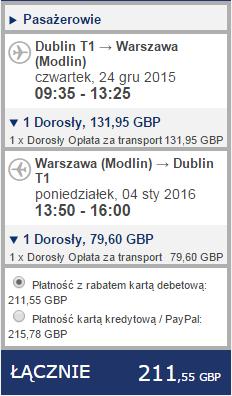 Ryanair Dublin Warszawa